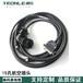 15孔航空插頭金屬波紋管編碼器連接線匯川編碼器線纜