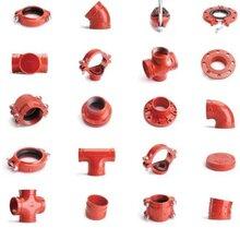 溝槽管件廠鑄鐵溝槽彎頭DN100批發消防水暖瑪鋼管件溝槽卡箍法蘭圖片
