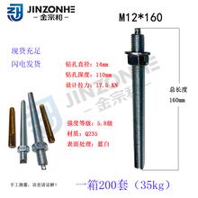 定型化學錨栓幕墻配件錨固螺栓5.8級熱鍍鋅藍白鋅化學錨栓圖片