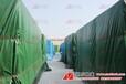 綠色防水塑料布雨棚加工蓋貨罩子貨柜罩加工