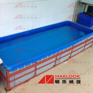 篷布泳池加工帆布游泳池定制厂家夏日戏水帆布池图片6