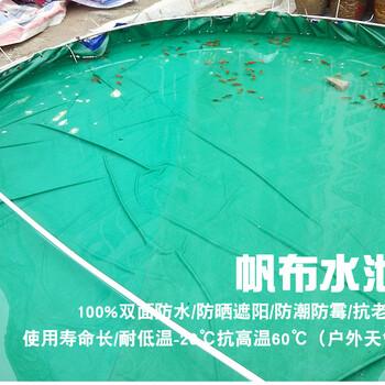 篷布水池加工防渗水池加工蓝色鱼池订做涂层布