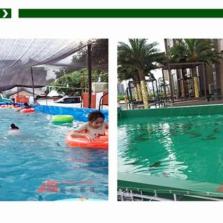 篷布泳池加工帆布游泳池定制厂家夏日戏水帆布池图片4
