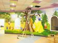 神鹿彩绘坊承接本地墙体彩绘3D壁画设计与施工项目图片