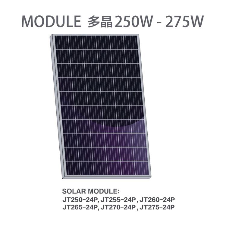 厂家批发天晶光伏组件佛山屋顶太阳能发电板A组多晶硅250W
