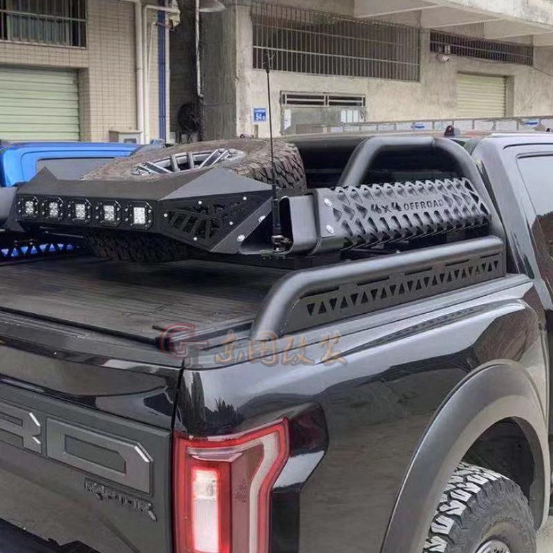 福特猛禽F150改装龙门架尾箱架