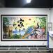 領晟3d墻體彩繪uv打印機立體大型噴繪機自動戶內外背景墻設備廣告