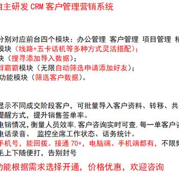 CRM客戶管理系統,外呼系統