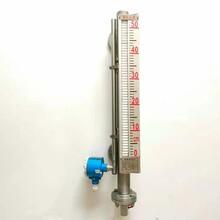 磁性浮子遠傳液位計側裝磁翻板液位計帶現場顯示圖片