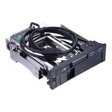 多功能2.5+3.5寸SATA臺式機光驅位硬盤盒熱插拔鋁合金硬盤擴展架圖片