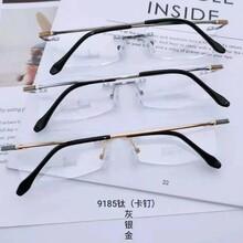 优视男款眼镜框半框纯钛眼镜全框纯钛眼镜无框耐磨眼镜