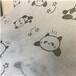 可爱熊猫图案印花水刺无纺布定制泉州厂家供应