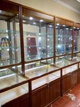 西安供應玻璃展示柜公司樣品展柜鋁合金展示柜藥店展柜貨架圖片