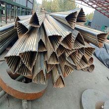 中卫45×45镀锌扇形管、57×57镀锌三角管每吨价格图片