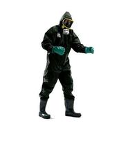 連體防化服,B級防化服_耐酸堿防化服/化學防護服_PVC材料防護服圖片