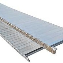 沧州昌进金属坦克链开放式钢制拖链重型钢铝拖链钢性工程拖链图片