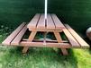 廣州雅亭戶外家具廠供應YT-353B塑木連體餐桌椅組合定制