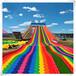 景區七彩滑道免費策劃設計彩虹滑道免費指導安裝