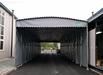 戶外大型倉庫伸縮雨棚移動排檔收縮遮陽蓬活動推拉式停車折疊帳篷