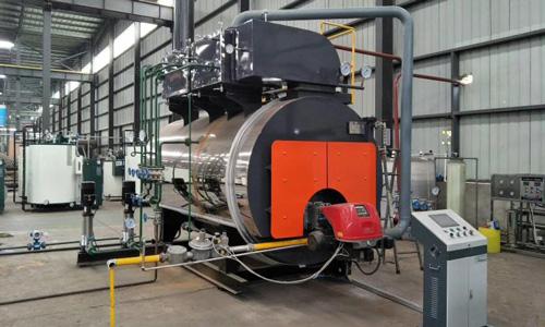 4噸燃氣模塊熱水鍋爐--用于-水產-養殖