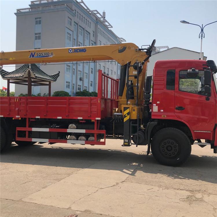 吉林陜汽隨車吊12噸帶液壓后支腿程力吊機價格