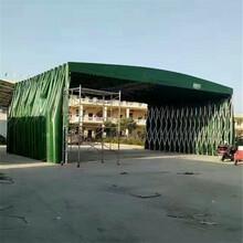 寶雞戶外活動推拉雨棚大型移動倉庫帳篷伸縮式遮陽蓬可折疊工地棚圖片