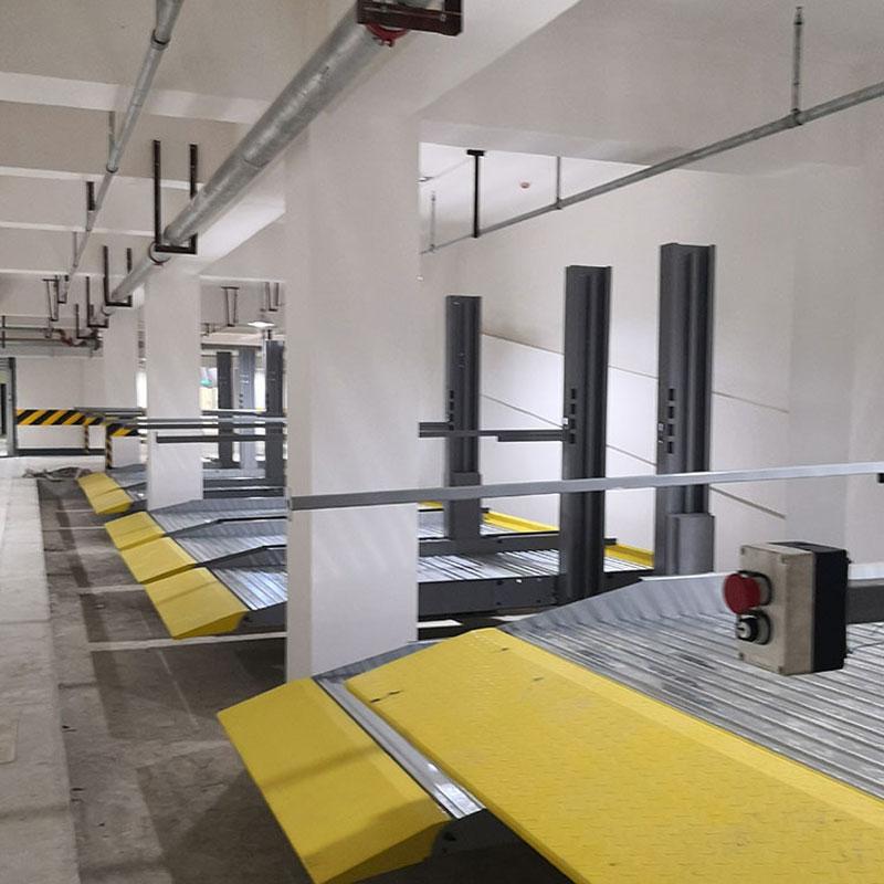 陕西省白水立体车位租赁双层机械停车位租用莱贝机械式停车设备过