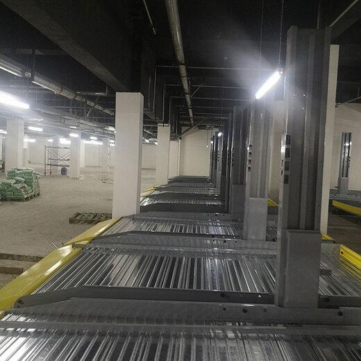 安居雙柱立體停車位回收紅原負二式升降橫移設備倍萊立體車庫加工