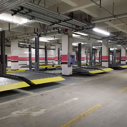 綿陽機械式車位租賃巴州2柱停車設備二手倍萊機械停車場安裝