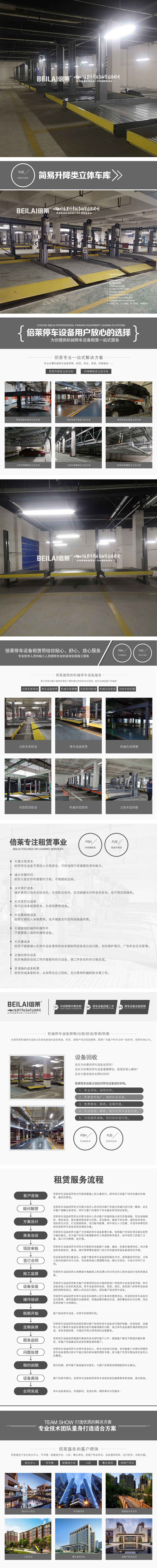 云南租賃立體車庫回收西雙版納家用立體車庫倍萊立體車庫公司