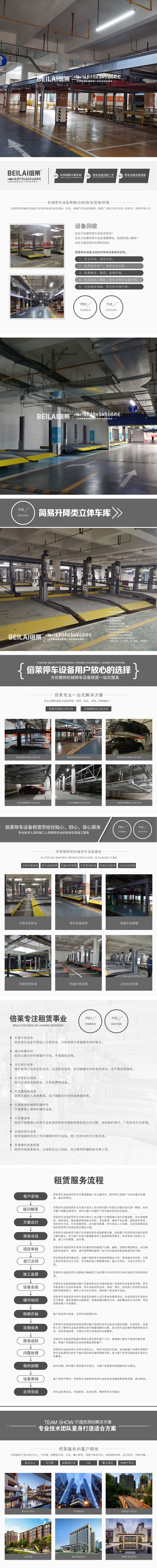 東興立體停車設備租賃移動式立體停車場回收機械式立體車庫廠家