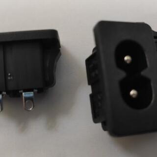 贝尔佳米老鼠电源插座用于适配器及电视主板的插座BEJ八字座图片3