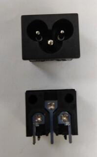 贝尔佳米老鼠电源插座用于适配器及电视主板的插座BEJ八字座图片5
