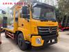 随车吊平板运输车13吨平板背车平板拖车250挖掘机拖车的价格多少