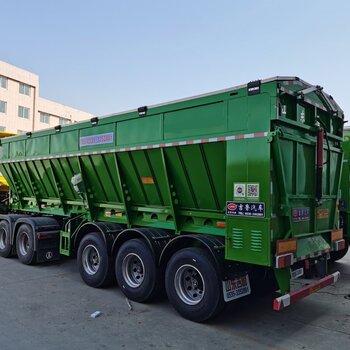 山东吉鲁汽车改装有限公司,传送带卸货半挂车,履带自卸车