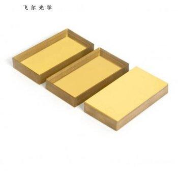 深圳飞尔冷热/镀金银铝膜/金色反射镜片可大量定制