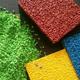 新疆EPDM彩色塑膠顆粒跑道價格產品圖