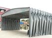 推拉式防雨活動伸縮帳篷大型排檔收縮雨棚倉庫物流收縮折疊遮陽蓬