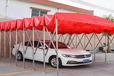 大型戶外移動推拉雨棚夜市排擋帳篷收縮遮陽蓬停車棚活動倉庫伸縮