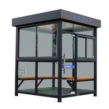 寶雞工廠吸煙亭戶外鋼結構吸煙室商場公共吸煙房玻璃崗亭成品圖片