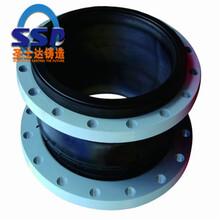 給水管道伸縮節PN10伸縮節橡膠雙法蘭限拉伸縮節圖片