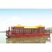 湖南長沙旅游金頂彩繪華貴游船景區水上餐飲船