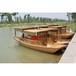 濟寧度假區水上休閑觀光船游客手劃船配槳