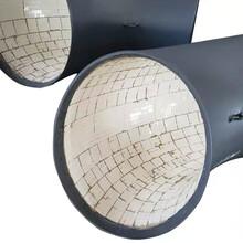 自蔓燃耐磨弯头高铬双金属陶瓷复合耐磨弯头图片