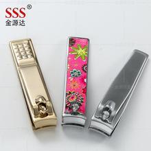 廠家批發電鍍指甲鉗隨身攜帶顏色花紋Logo可定制禮品指甲鉗圖片