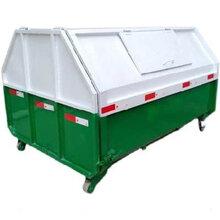 延安推拉門式垃圾箱價格/掛車可移動環衛勾臂垃圾箱