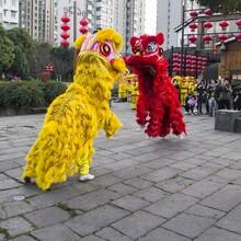 濟南舞龍、舞獅鑼鼓、民俗表演、武術表演、打擊樂靜展玩偶圖片