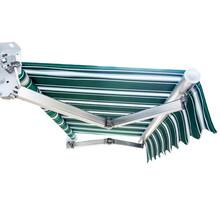 加工定制手搖式伸縮雨篷鋁合金曲臂式遮陽篷門店戶外伸縮雨蓬圖片