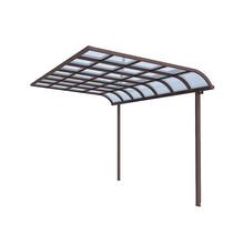 鋁合金雨棚遮陽棚別墅庭院雨棚陽臺透明雨蓬歐式窗臺棚陽光房雨棚圖片