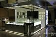 東莞商場珠寶專柜設計白色木質烤漆珠寶飾品柜臺帶燈制作